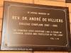 St Charles College Chapel plaques Rev Dr Andre de Villiers )