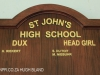 St Johns School Honours Boards Dux and Head Girl. (1)