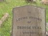 Voortrekker Cemetery West - Grave George Veal 1919