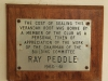 Richmond Country Club - Ray Peddle Plaque 1960