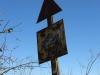 Riverside - Town Buildings - Rail crossing sign