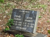 Scottburgh Cemetery grave Frans & Joyce Joubert)