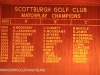 Scottburgh Golf Club honours boards Match Play Champions). (1)