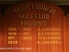 Scottburgh Golf Club honours boards Presidents