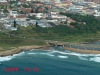 Port Shepstone CBD from the air - Road & Rail bridge - Umzimkulu mouth (1)