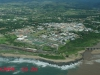 Port Shepstone CBD from the air - Road & Rail bridge - Umzimkulu mouth (2)