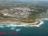 Port Shepstone CBD from the air - Road & Rail bridge - Umzimkulu mouth (3)