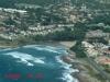 Uvongo Beach & Falls from air - Road Bridge & beach (1)