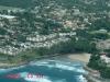 Uvongo Beach & Falls from air - Road Bridge & beach (2)