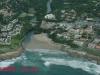 Uvongo Beach & Falls from air - Road Bridge & beach (4)