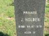 Stanger Cemetery - Grave Pvt J Holden 4 July 1879
