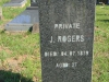 Stanger Cemetery - Grave Pvt J Rogers - 1879 - aged 27