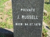 Stanger Cemetery - Grave Pvt J Russell - 4 July 1879