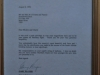 Hartford House Admin offices images Gary Player letter