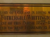 St Cyprians Anglican Church - Priest HF Whittington - 1888