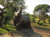 Umfolosi - Centenary Game Capture Centre - Rhino sculpture