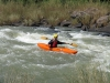Umkomaas River - Hella Hella -Canoeists in Umkomaas approaches to No 1 rapid - rafters (4)