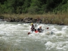 Umkomaas River - Hella Hella -Canoeists in Umkomaas approaches to No 1 rapid - rafters (5)