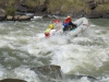 Umkomaas River - Hella Hella -Canoeists in Umkomaas approaches to No 1 rapid - rafters (6)