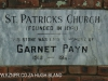 St Patricks Church 1861 entrance gate foundation stone