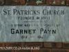 St Patricks Church 1861 entrance gate foundation stone