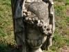 Verulam Cemetery grave  damaged statuette