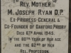 Oakford Priory - Graveyard & Memorials - Plaque Rev Mother M. Joseph Ryan - died 1945