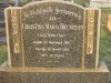 Bethany Farm Family Cemetery - Grave -  Christina Theunissen (nee Minnaaar) 1951