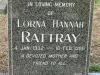 Bethany Farm Family Cemetery - Grave - Lorna Hannah Rattray - 1986