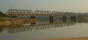 Illovo River Rail Bridge - View from Beach