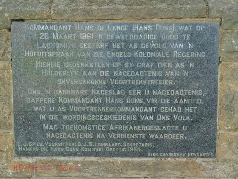 Besters - Hans Dons grave - Monument -