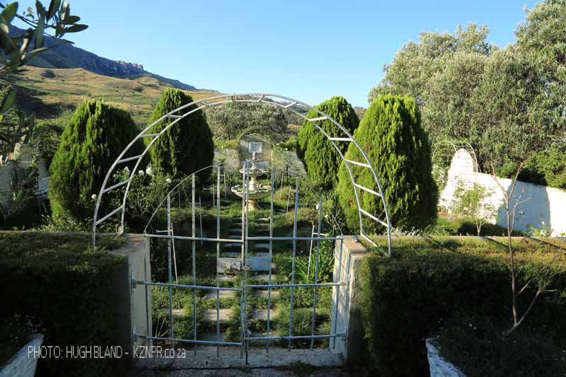 Kamberg - Cleopatra Mountain Lodge - gardens. (2).