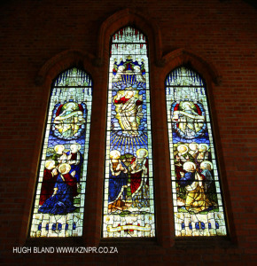 PMB St Georges Garrison Church Stain Glass windows The Ascension west end (1)