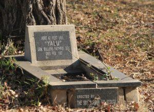 """Grave of 'Yalu""""."""
