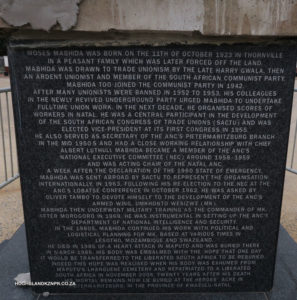 Plaque for Moses Mabhida's Statue - note missing cladding.