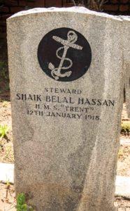 Steward Shaik Hassan's grave in Durban North.